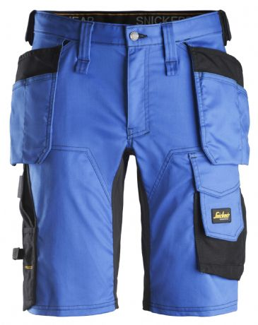 Snickers 6141 AllroundWork Stretch Shorts Holster Pockets (True Blue/Black)